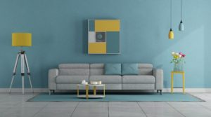 Modern pastel colors living room